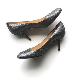 Kate Spade Silver Glitter Heels Size 11